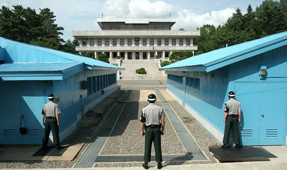 The JSA is used by the two Koreas for diplomatic engagements and, until March 1991, was also the site of military negotiations between North Korea and the United Nations Command (UNC). Credit: Wikipedia