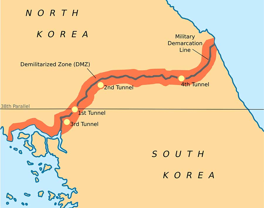 Here is the map that shows the location of the DMZ. Credit: Wikipedia