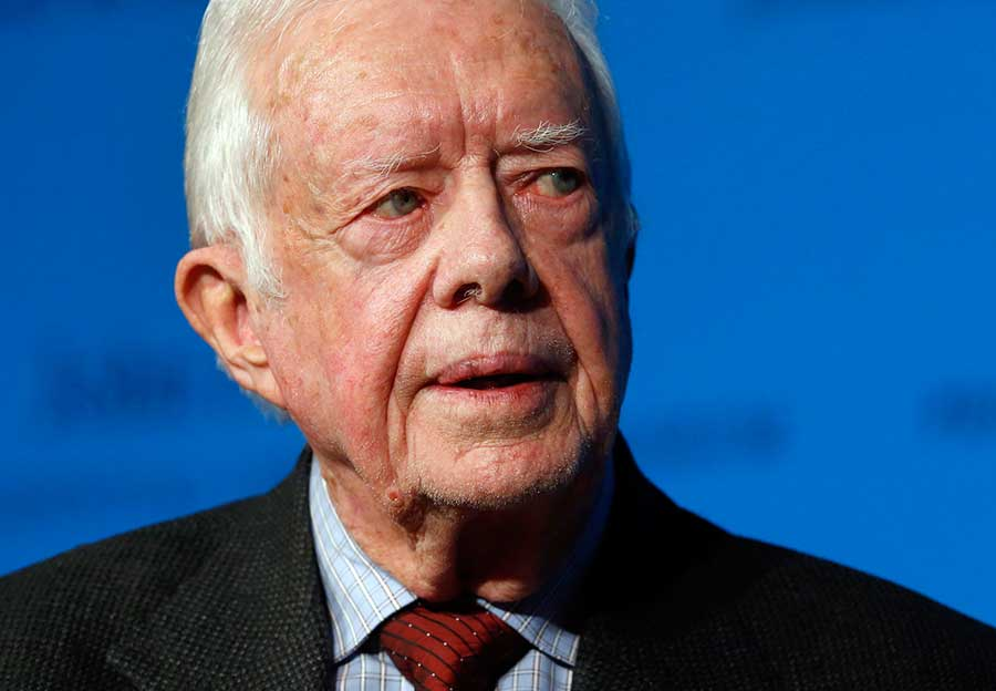 On Wednesday, Aug. 12, 2015, Carter announced he has cancer and will undergo treatment at an Atlanta hospital. (AP Photo/Elise Amendola)