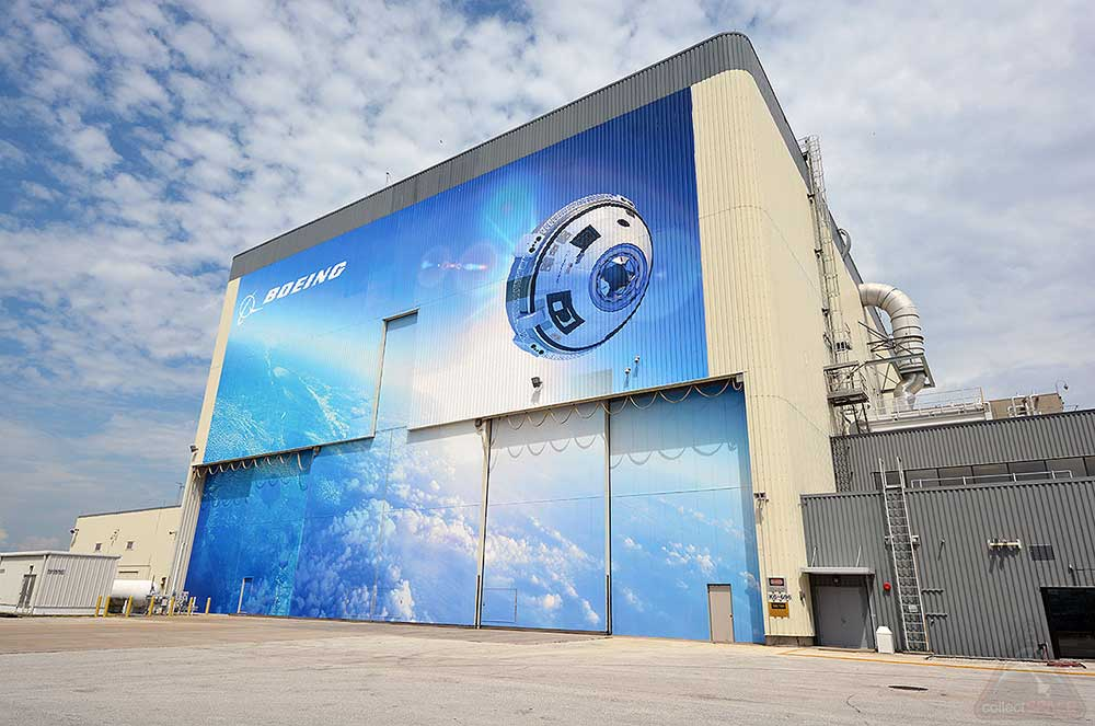 """Boeing's Commercial Crew and Cargo Processing Facility, or the C3PF, will ready the CST-100 """"Starliner"""" for flight.  Credit: collectSPACE.com"""