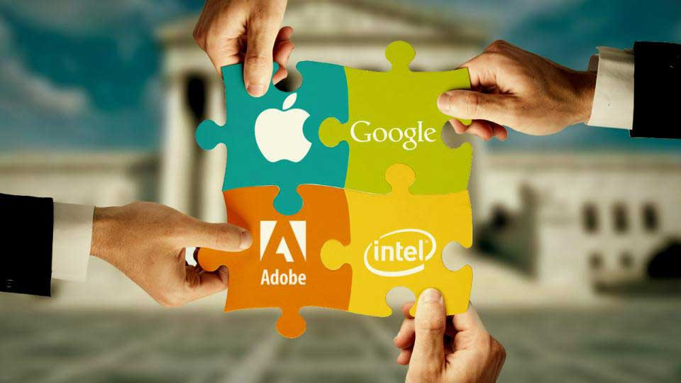 Apple, Google, Intel Corp, And Adobe Settle Employee-Poaching Lawsuit. Credit: Business Finance News