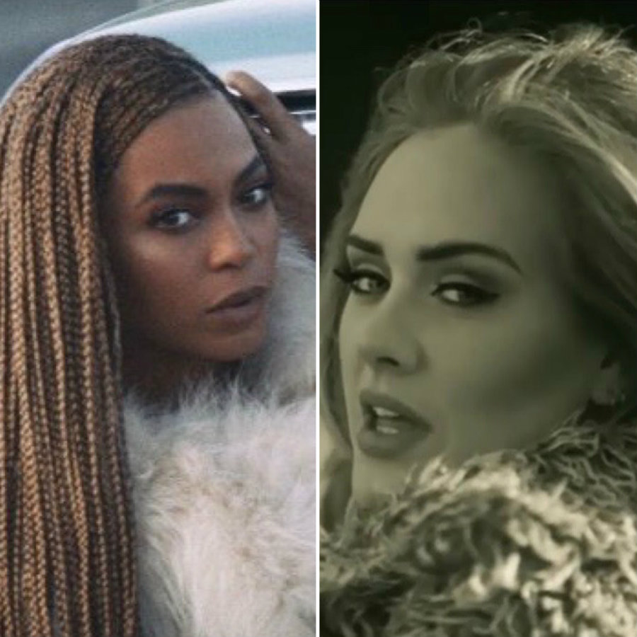 "Beyoncé with 11 nominations for her visual album ""Lemonade"", and Adele with eight nominations, of which seven are for her ""Hello"" video, are the two top nominees of the 2016 MTV Video Music Awards. Photo credit: Eurweb"