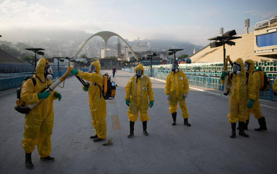 On July 31, a small fire started in the Olympic Village, and the Australian Olympic team was evacuated, when they came back the firefighters apparently stole Zika-protective team shirts and a laptop. Image Credit: Neutral Science