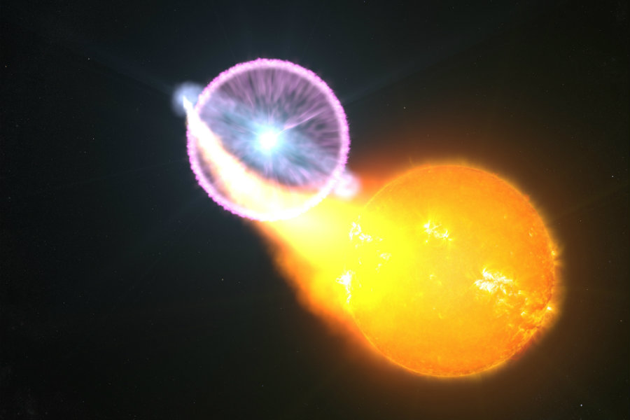 NASA's Fermi Space Telescope was able to capture the exact moment of a nova, called Classical Nova. Image Credit: NASA