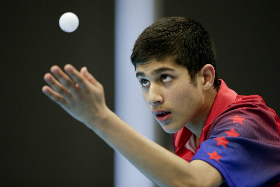 With only 16 years old, the table tennis player Kanak Jha is competing for the Olympic Games on Friday. Photo credit: USA Table Tennis / NBC Sports