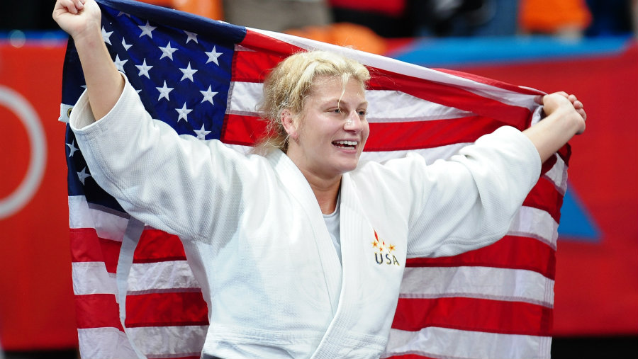 Kayla Harrison won her first gold medal in judo after she participated four years ago in the London Olympics, and now she has become a two-time Olympic champion after winning her second gold medal in the Rio 2016 Olympics. Photo credit: Fox Sports