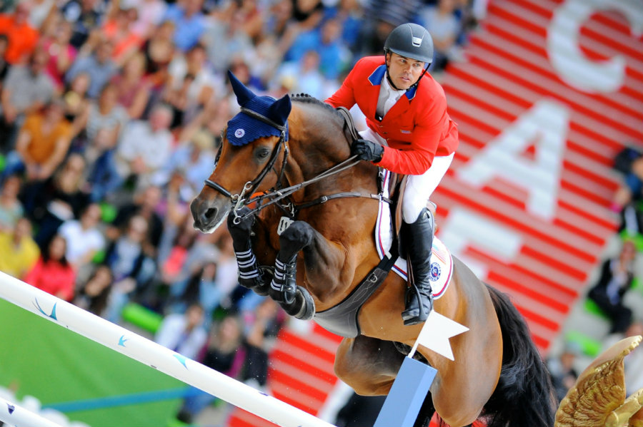 Kent Farrington finished in the fifth place during the individual jumping competition at Rio Olympics Games. Photo credit: Noelle Floyd