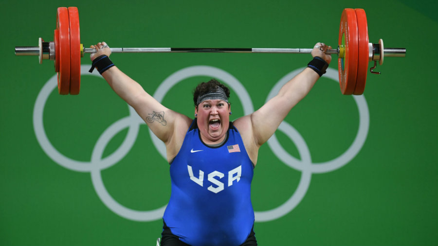 Sara Robles won Sunday the first medal for the United States in the Rio Olympics in the women's over-75-kilogram category. Photo credit: Sporting News