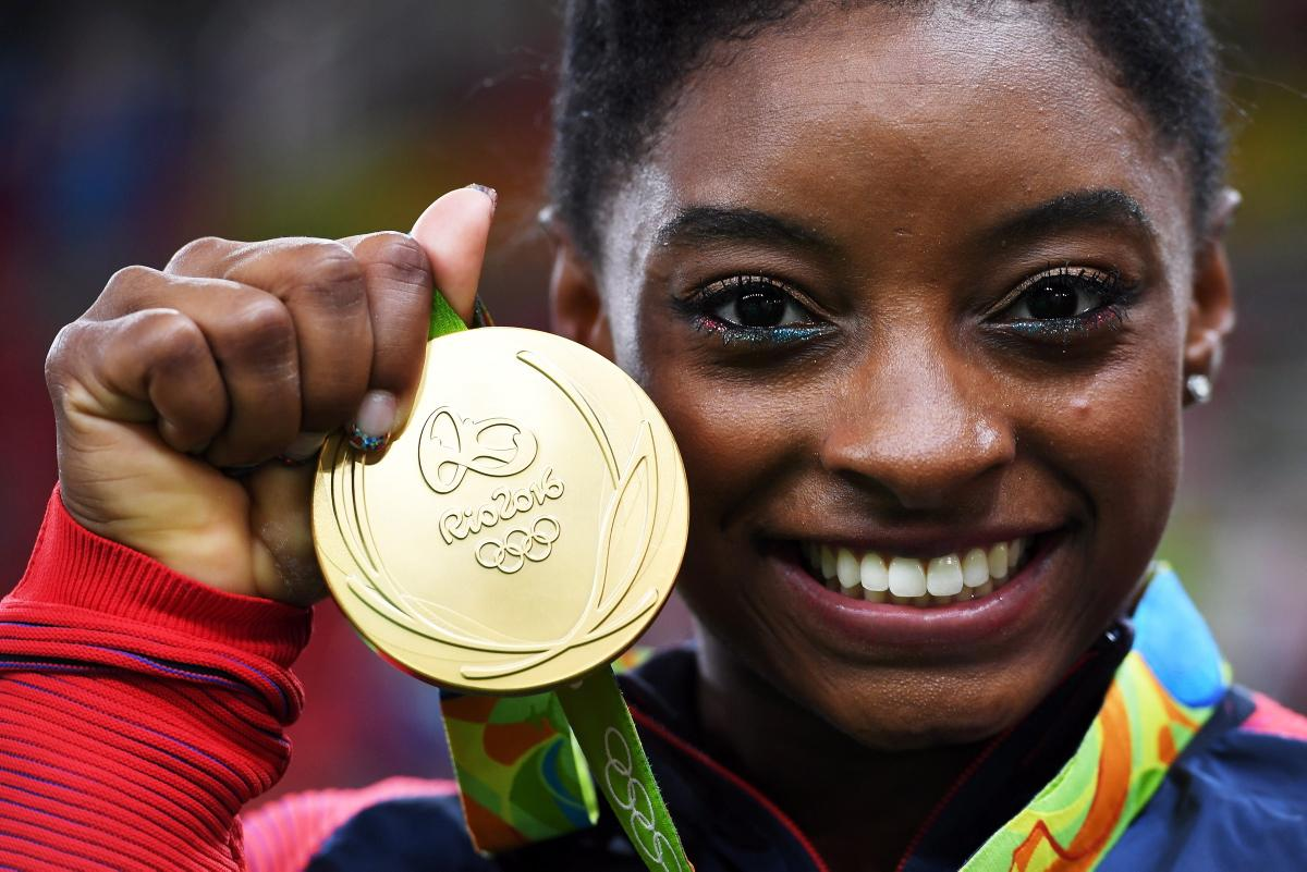 American gymnast Simone Biles has won gold in the floor exercise on Tuesday, completing Rio 2016 with five medals: four gold and one bronze. Photo credit: New York Daily News