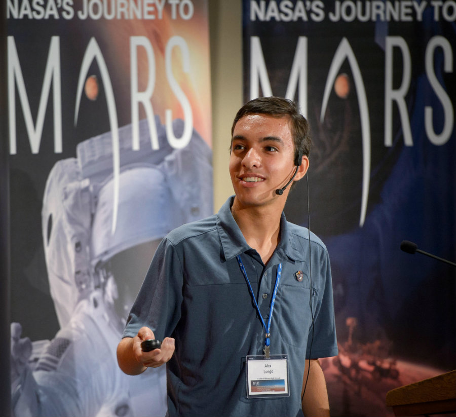 One of the leading ideas on the matter, the 2020 mission landing site on Mars,  is Alex Longo proposal to land the rover at Gusev Crater. Photo credit: NPR Illinois