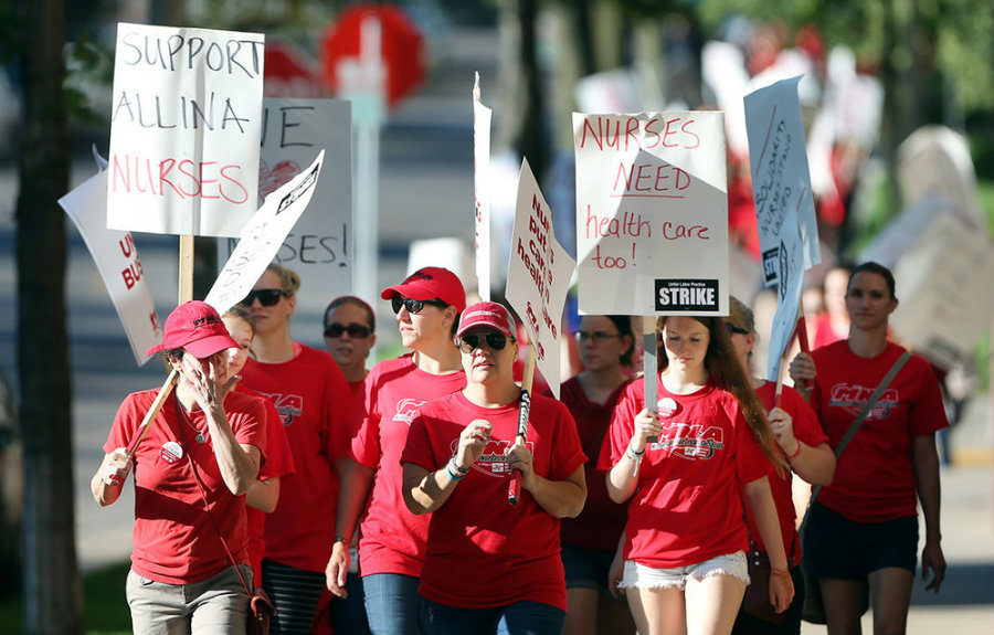 While nurses say Allina is proposing a health care plan that would leave them with less coverage, Allina claims its proposed changes are necessary to meet budgetary restrictions.  Photo credit: Health.TrueBreakingNews.com