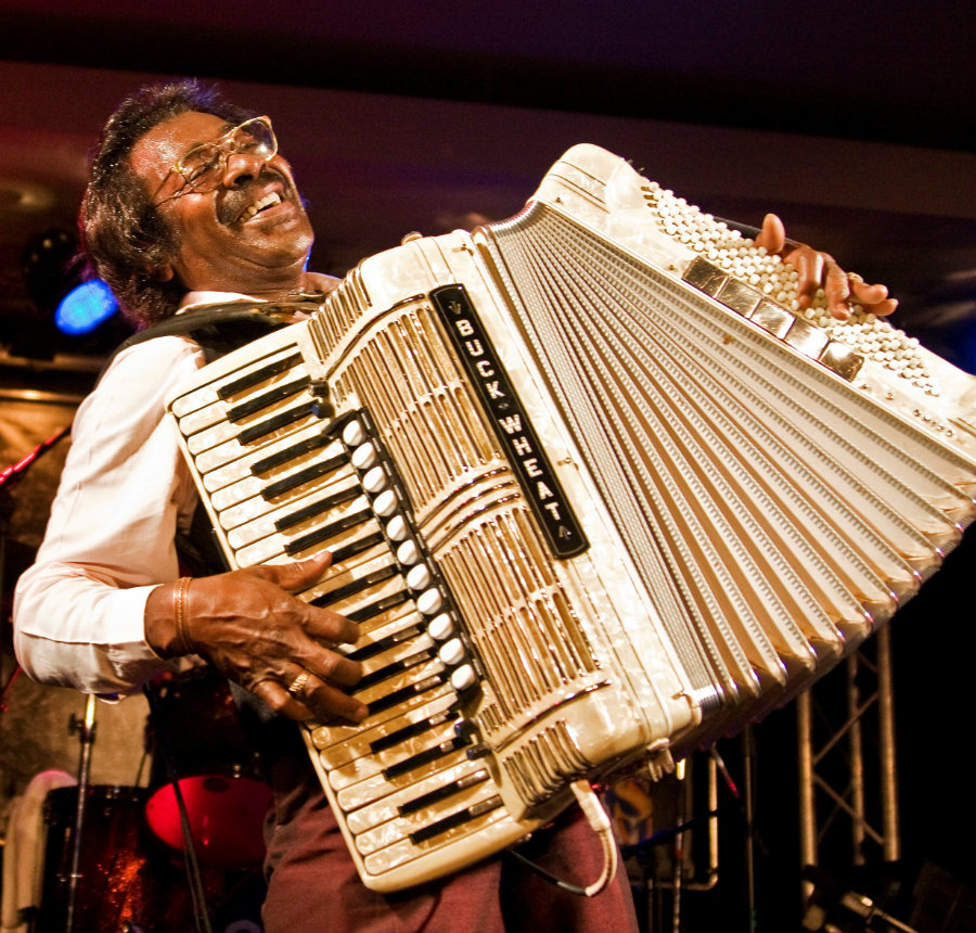 The musician was named Stanley Dural Jr., and then founded the Buckwheat Zydeco band in 1979. Photo credit: The Marc Steiner Show
