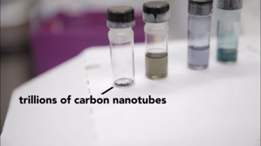engineers and scientists have long tried to create electronics using the properties of carbon nanotubes, which are tubes or straws made of carbon, about as thick as an atom, stronger than steel while remaining flexible, and also very conductive. Photo credit: Engineering UW