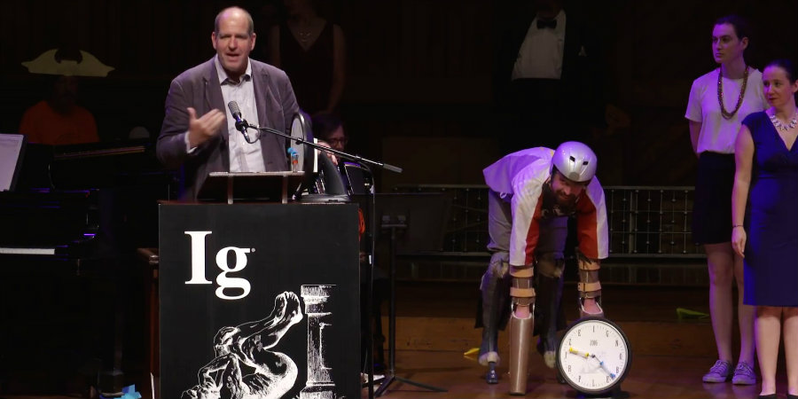 "The Ig Nobel prizes are awarded to those that can ""make people laugh, then make them think."" Photo credit: Inverse"