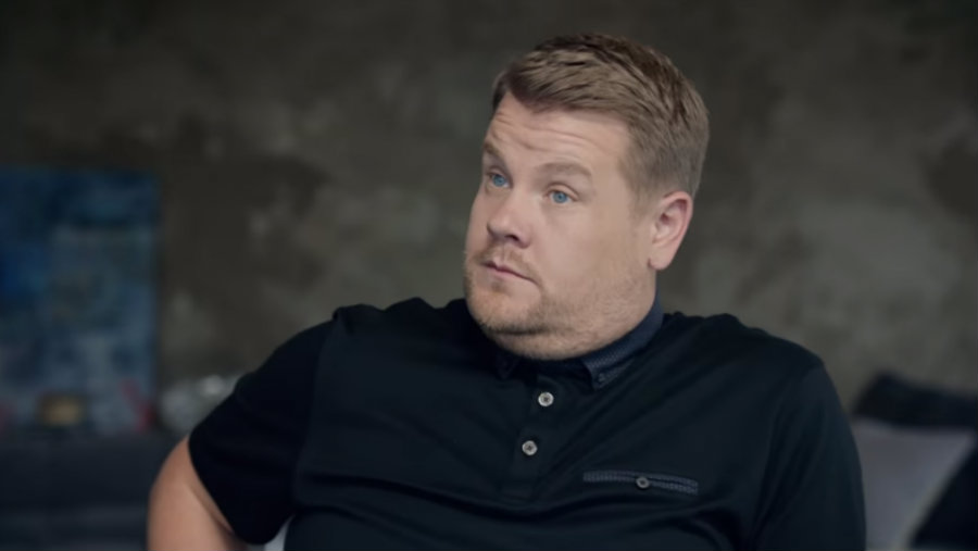 On a two-minute video, Corden is shown trying to impress Apple executives with ridiculous ideas for a commercial that explains the company's new features in their streaming services. Photo credit: Apple Youtube Channel
