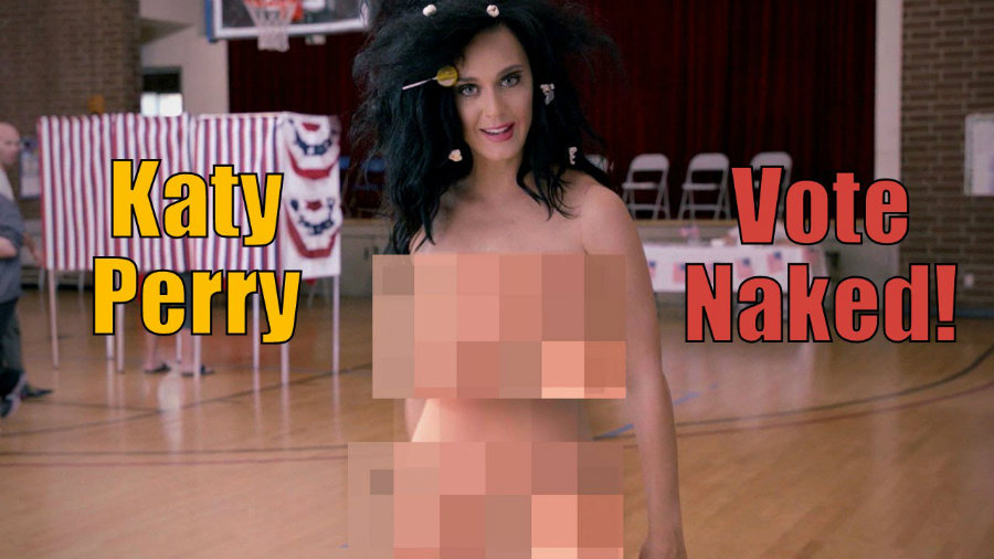 Perry collaborated with Rock the Vote and Funny or Die to tell Americans that does not matter what one wears to the polls, as long as one is voting. Photo credit: Funny or Die Youtube Channel