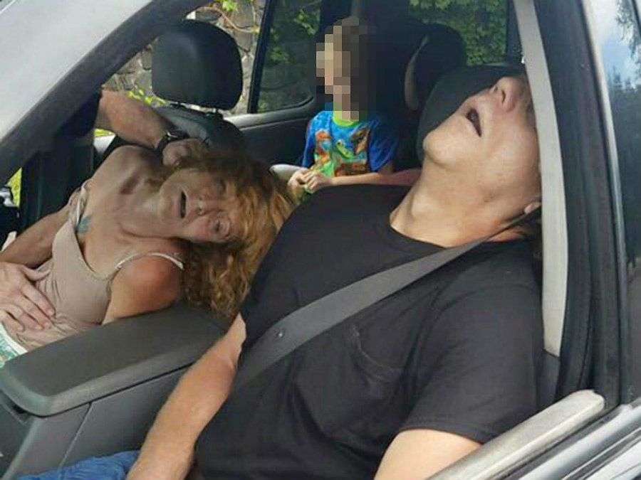 The driver, who was later identified as James Acord, told the police official he was taking the front seat passenger, identified as Rhonda Pasek, to the hospital. Photo credit: City of East Liverpool / New York Daily News