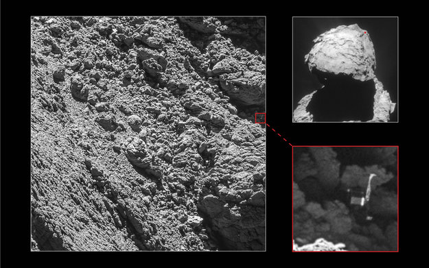Philae found! Missing space robot spotted 'wedged into crack' on comet class=