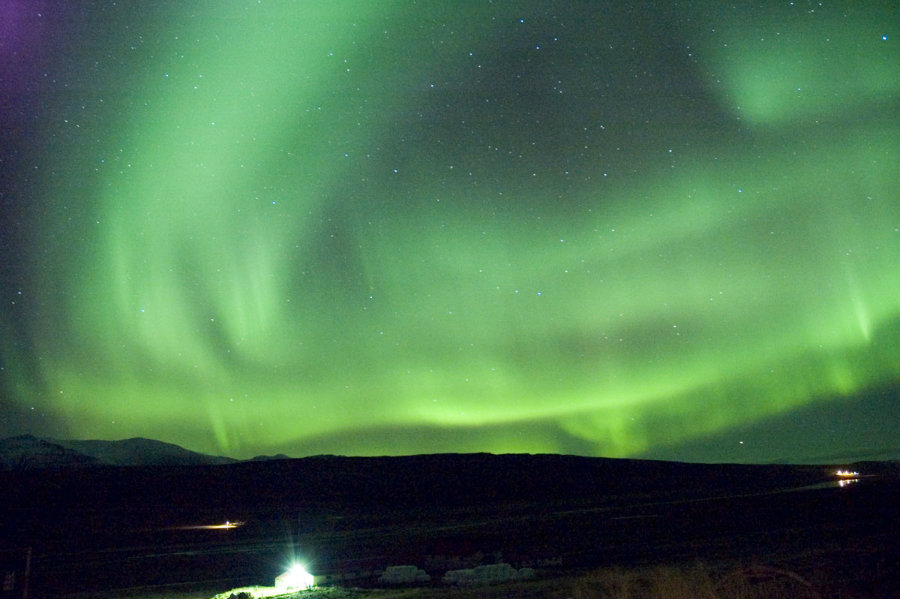 Authorities of the city of Reykjavik shut down street lights and asked locals to turn theirs off to optimize the sighting of the northern lights. Photo credit: Taber Holidays