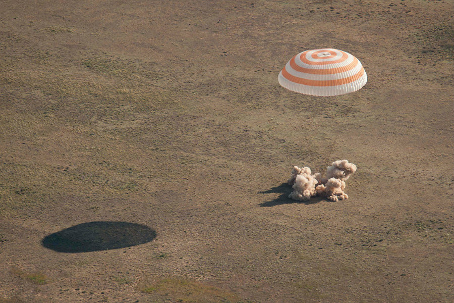 "The landing went smoothly, with NASA spokesman Dan Huot calling it ""picturesque."" Photo credit: Spacefacts.de"