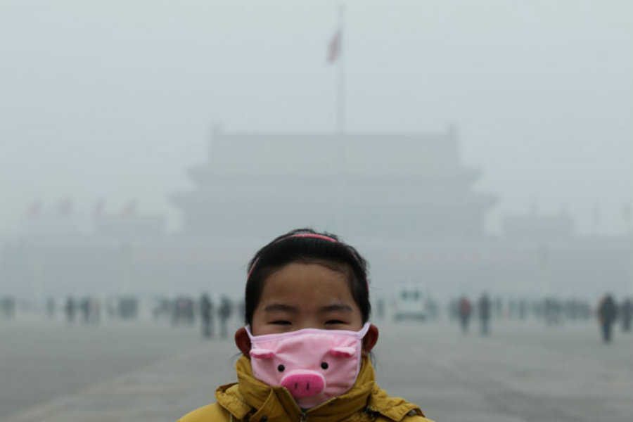 It was found out that air pollution kills 600,000 children a year. Photo credit: China Daily