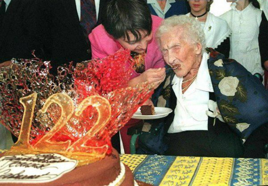 Jeanne Calment has been the only human to have lived more than the 110 years old, passing away at the age of 122. Photo credit: Quotesgram