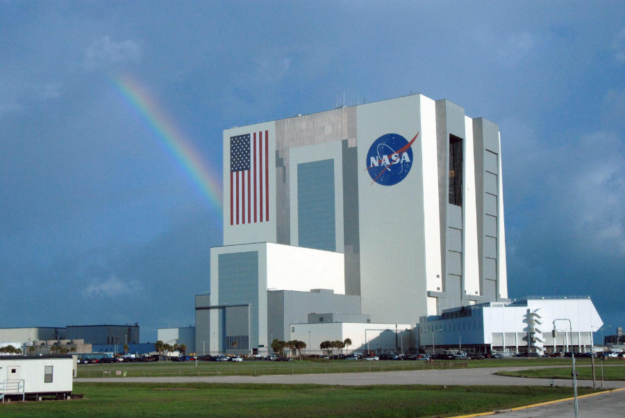 The NASA complex is home to multiple office buildings, launch pads, and the huge Vehicle Assembly Building. Photo credit: NASA / Pics About Space
