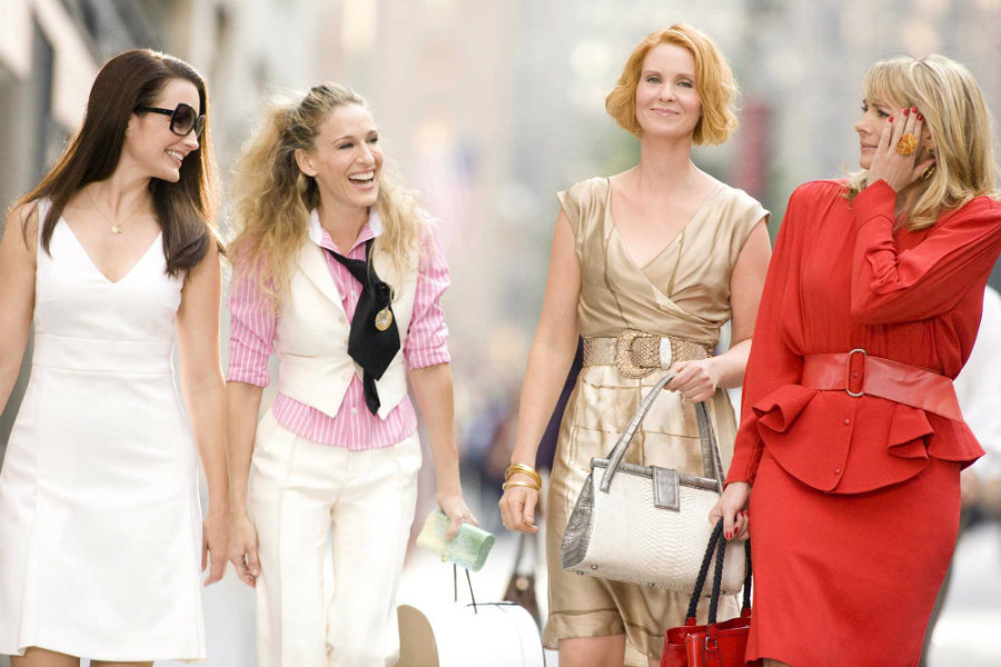 2018 marks the 20th anniversary since the premiere of Sex and the City on HBO. Photo credit: Man Repeller