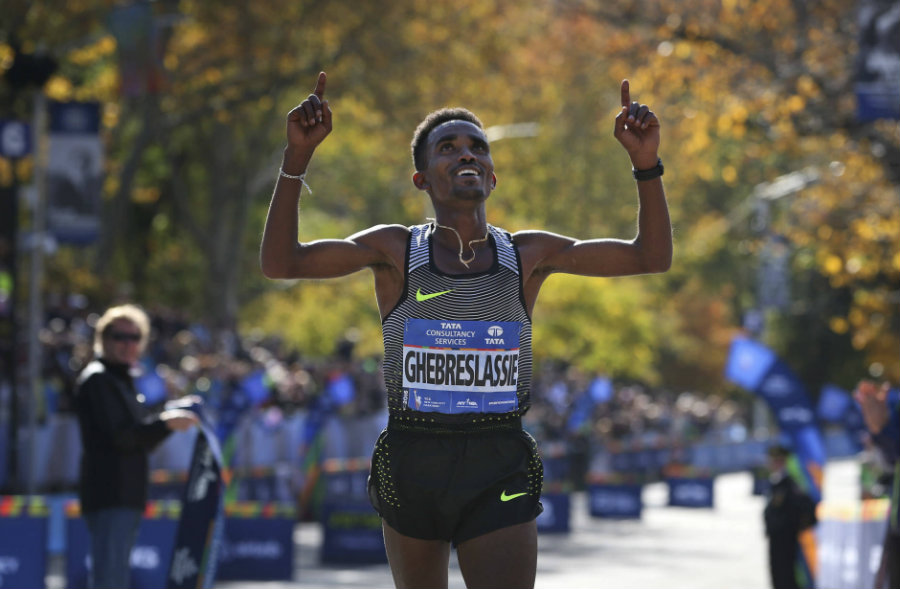 Ghirmay Ghebreslassie, a 19-year-old guy from Eritrea, won male first place. Photo credit: AP Photo / Seth Wenig / Wtop