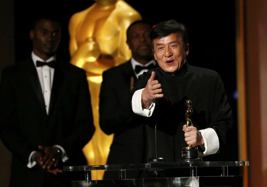 Chinese movie star Jackie Chan awarded honorary Oscar