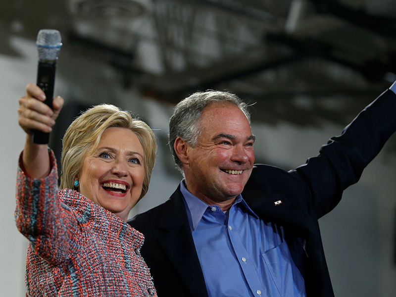 Clinton, Tim Kaine