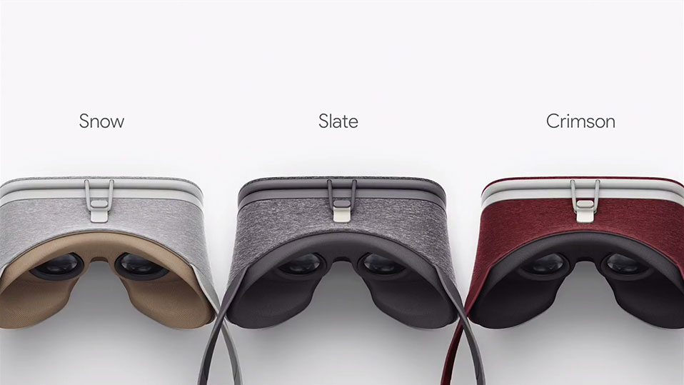 Google Daydream View VR headset colors. Image Credit: Polygon