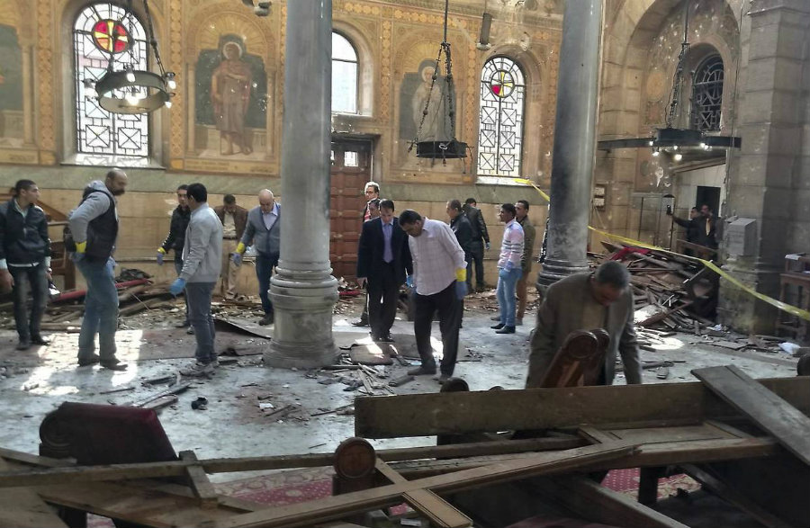 Many of the victims were women and children since the bomb was placed in the section reserved for female believers. Photo credit: AP / The Wall Street Journal