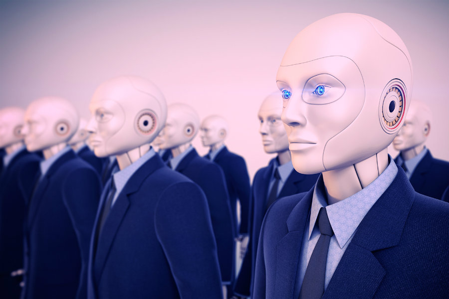"Foxconn plans to replace its human workforce for what they have called ""Foxbots."" Photo credit: Digital Trends"