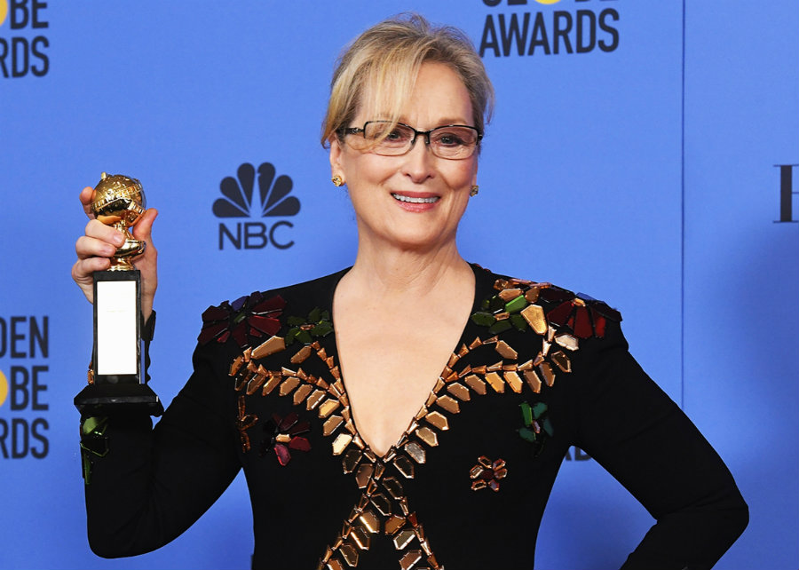 Meryl Streep offered a very polemic speech mainly about President-elect Donald J. Trump, in the 2017 Golden Globe Awards ceremony. Photo credit: Kevin Winter / Getty Images / Slate