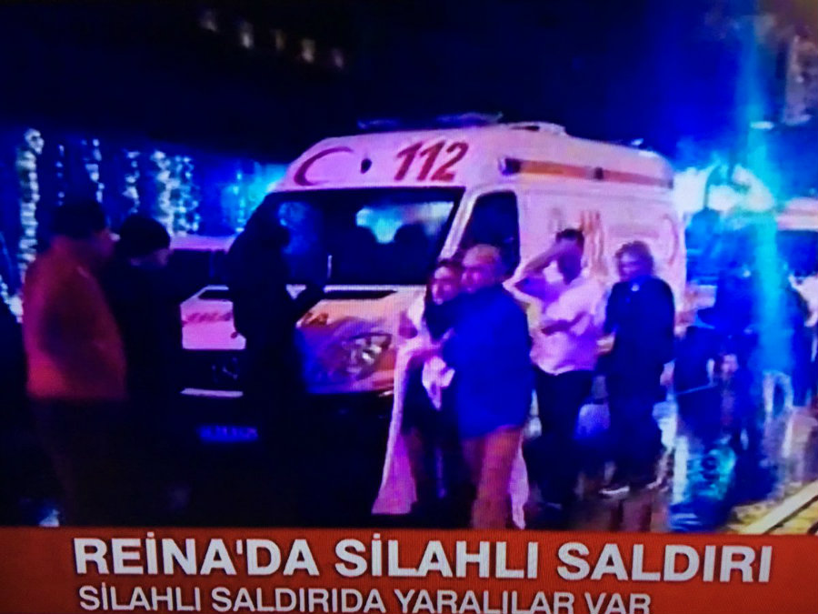 The famous Turkish nightclub, Reina, was hosting over 600 guest, many foreigners, during New Year's Eve when a gunman opened fire. Photo credit: CNN Türk ENG, @CNNTURK_ENG / Twitter