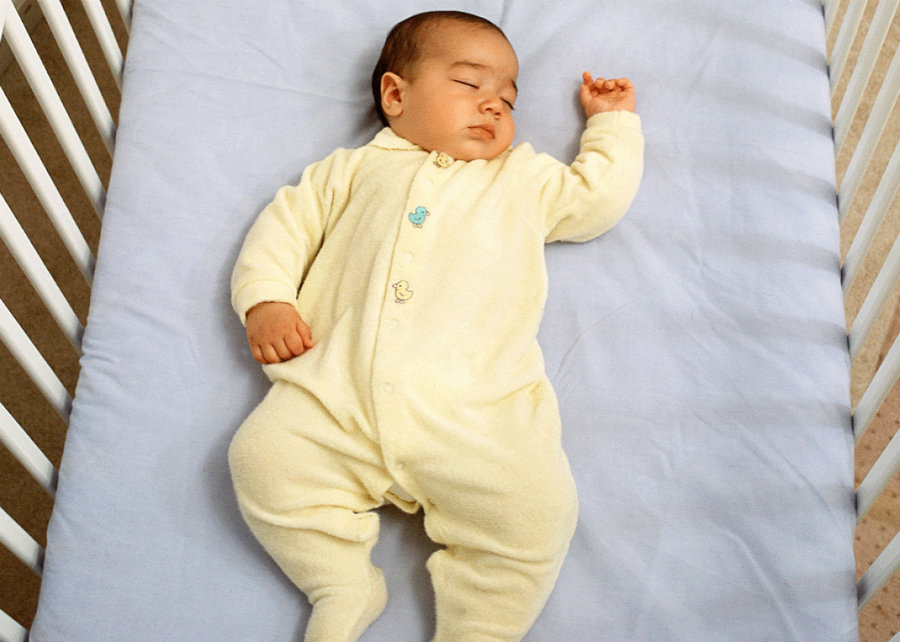 Doctors mainly recommend that babies should sleep on their backs. Image credit: National Insitute of Child Health and Human Development / Slate