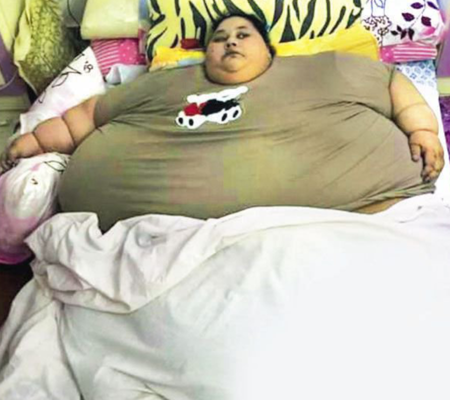 World's fattest woman winched from house in crane to have life-saving surgery