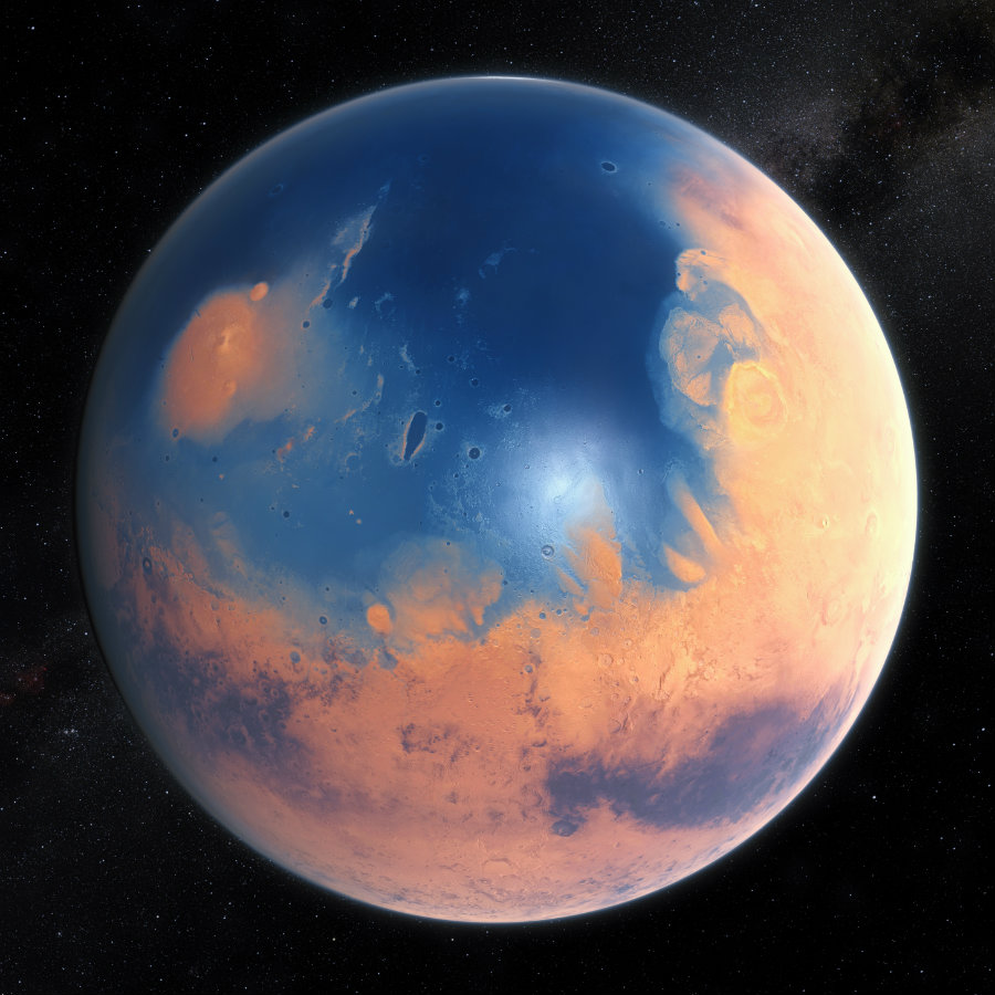 how much is the planet mars - photo #5