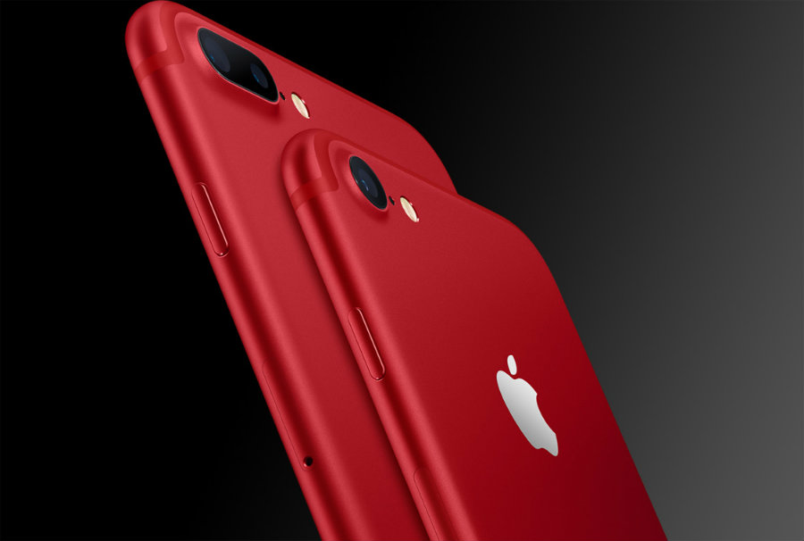 Apple released a fancy red iPhone 7 and 7 Plus. Image credit: Apple Inc. / BGR