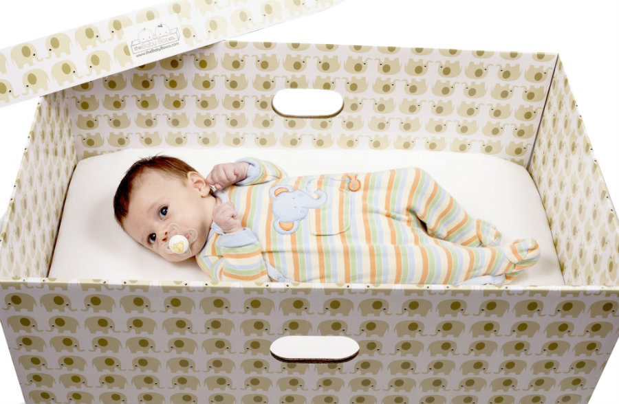New Jersey started a baby box program earlier in January. Image credit: Babyboxco.com