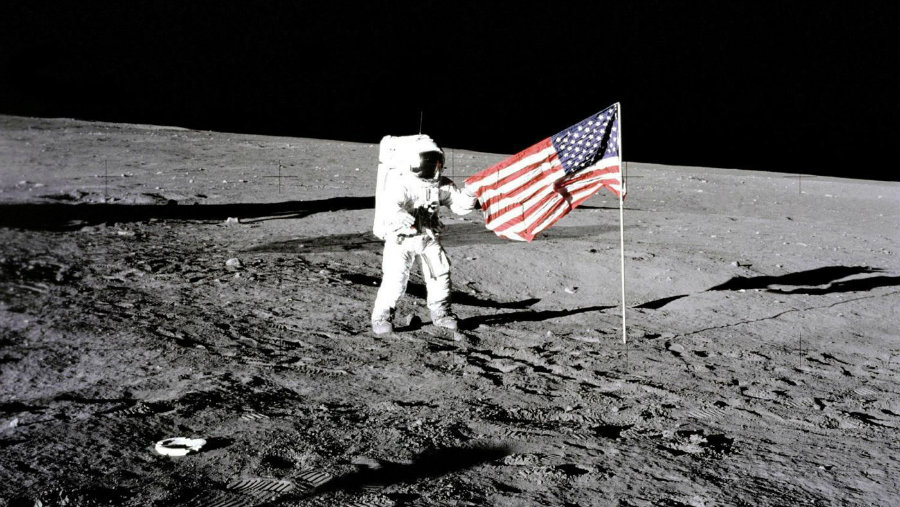 Trump has requested NASA to take Americans back to the moon again. Image credit: Encyclopaedia Britannica / UIG Universal Images Group Getty Images / Reference