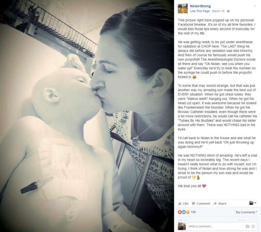 Grieving mother says goodbye to her son Nolan