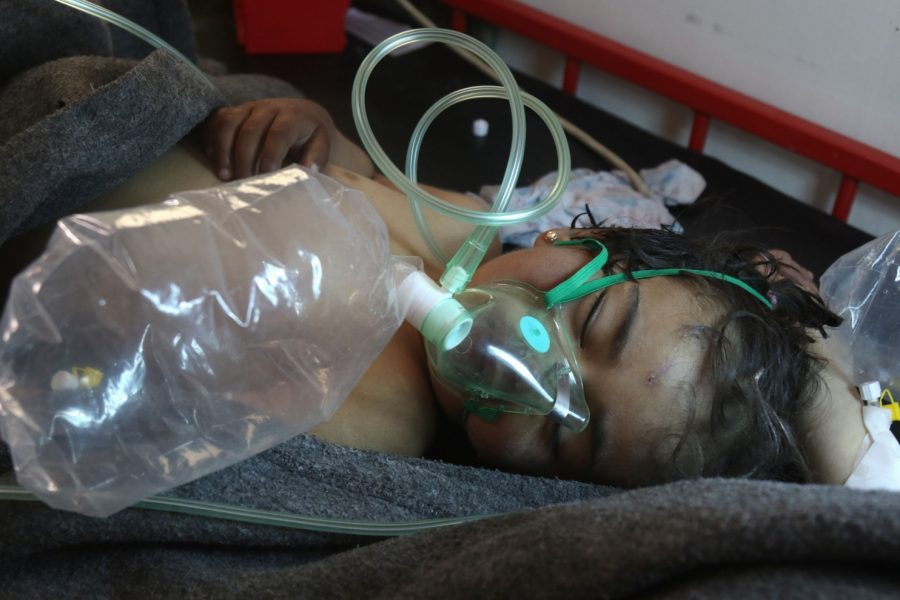 Syrian boy being treated for chemical poisoning