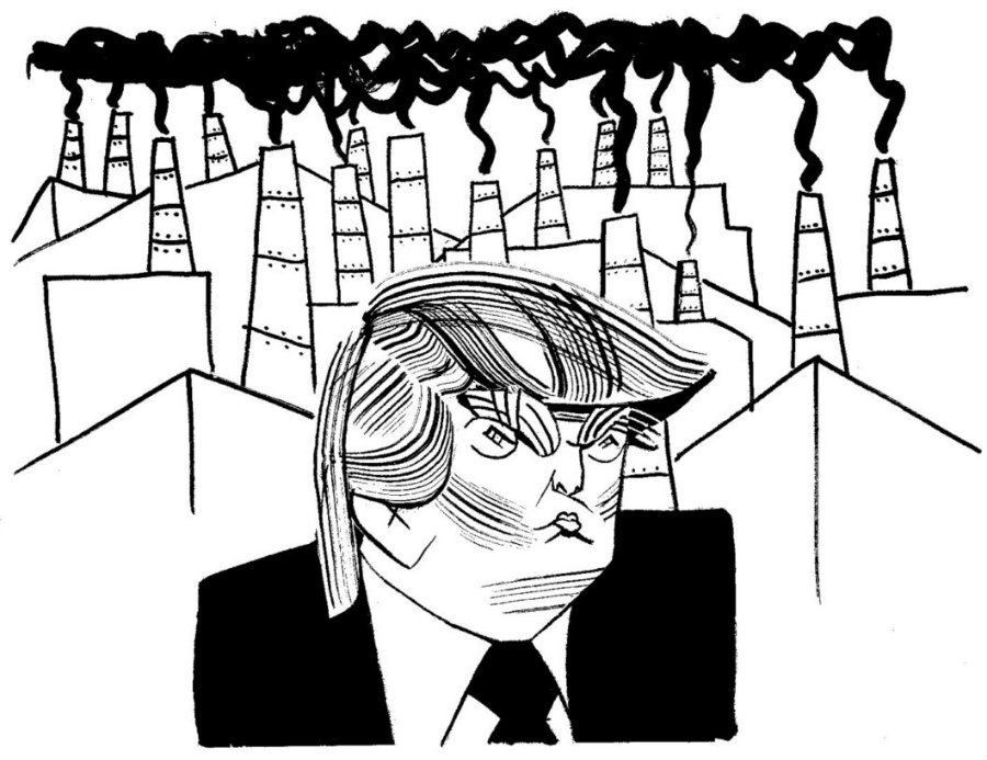 Later it was evident that the Trump administration did not want much to do with science other than finding ways to obtain more profits. Image credit: Tom Bachtell / The New Yorker
