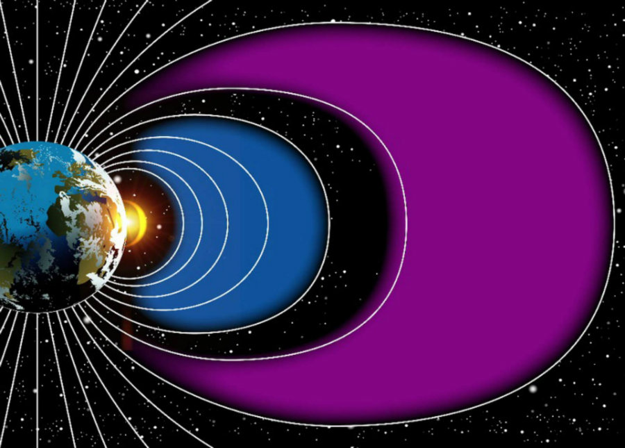 These interactions sometimes create a barrier around Earth against high-energy particle radiation found in space. Image credit: NASA's Goddard Space Flight Center / Genna Duberstein / Sci News