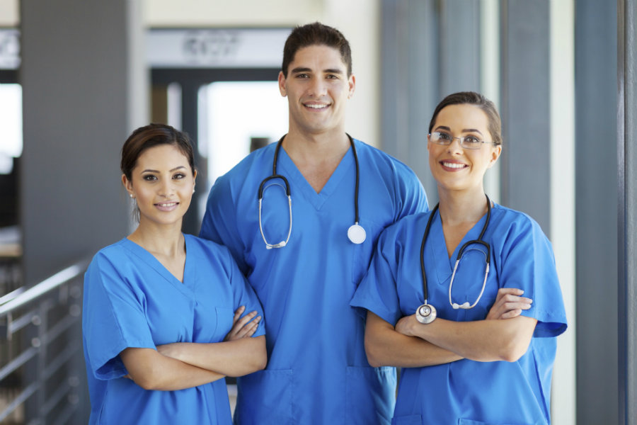 While it's true that most nurses are female, men are choosing the profession at an increasing rate. Image credit: Arcadianursing.co.uk