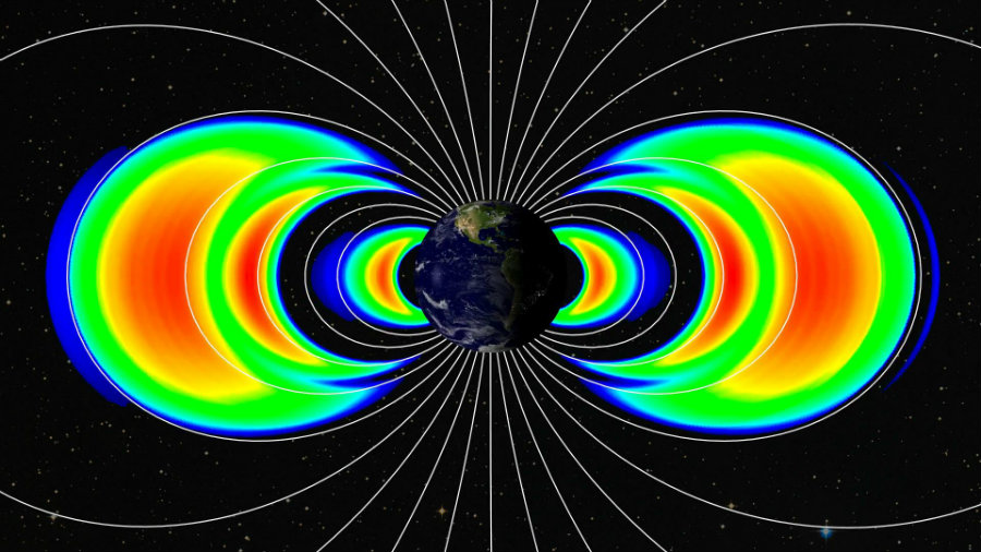 Researchers discovered that the nuclear explosions occurred during the Cold War created new Van Allen belts around the Earth. Image credit: NASA