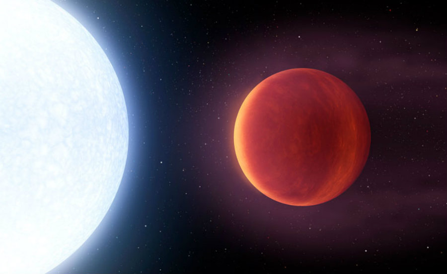 Astronomers discovered the hottest known exoplanet, KELT-9. Image credit: ScienceNews