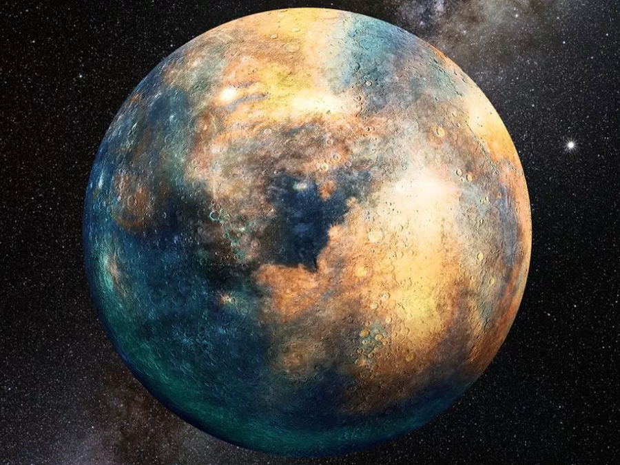 Artistic rendition of Planet 10. Image Credit: Heather Roper/Lunar and Planetary Laboratory